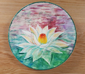 Tribeca Lotus Flower Plate